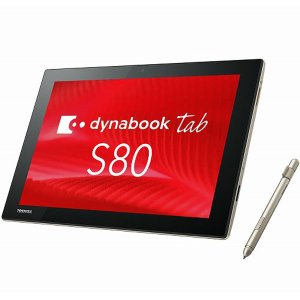東芝 PS80FSU1EU7AD21 dynabook Tab S80/F: (Atom Z8350/4GB/eMMC64GB/10.1型/Win10Pro)|bita-ec