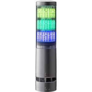 パトライト LA6-3DTNUB-RYG 積層情報表示灯 レボライト LA6型 3段/シルバー/点滅・ブザー bita-ec