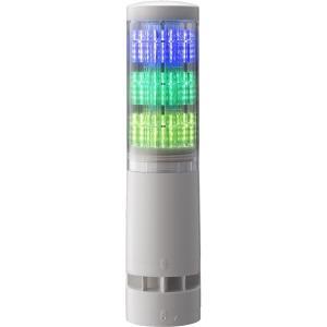 パトライト LA6-3DTNWB-RYG 積層情報表示灯 レボライト LA6型 3段/オフホワイト/点滅・ブザー bita-ec