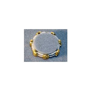 ゴールドパワーリングシリコンビーズタイプ:バイオセル7個のイオン電流