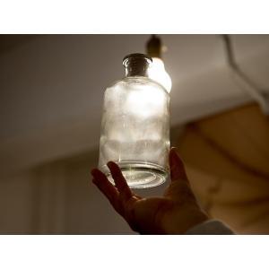 □商品名:チェコビンテージ保存瓶   チェコから届いたアンティークの円柱ビン。  デッドストックなの...