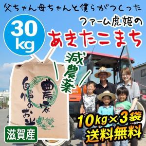 2020年度 米 お米 30kg 10kg×3袋 あきたこまち 滋賀県産 白米 玄米 ファーム虎姫 送料無料 滋賀の幸|biwaoumi