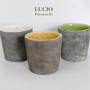 LUCIO 15【ガーデニング/鉢カバー/鉢/おしゃれ/観葉植物/セメント】 biyori