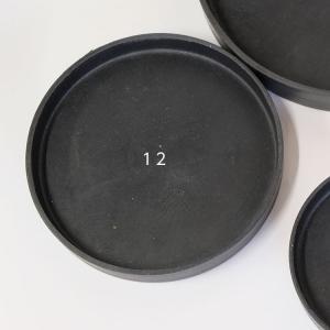 ブラックポット用受皿 12cm 【サボテン/頑丈/おしゃれ/塊根植物/多肉/黒プラスチック鉢 】|biyori