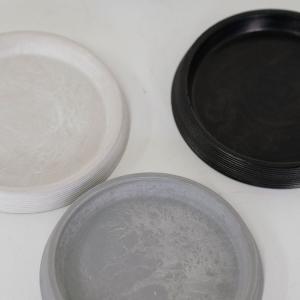 ライン受皿 12cm 【サボテン/頑丈/おしゃれ/塊根植物/多肉/黒プラスチック鉢 】コーデックス|biyori