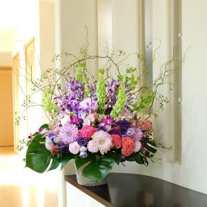 デザイナーズフラワーLサイズ ゴージャス系(パープル) (4万円コース)|biz-hana