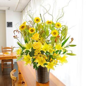 デザイナーズフラワーMサイズ A tall yellow|biz-hana