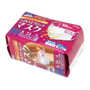 【日本製】プレミアム4層フィットマスク ふつうサイズ 個別包装 40枚入り不織布マスク|biz-supply