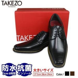 ビジネスシューズ 大きいサイズ 2足で6,800円+税 TAKEZO タケゾー 高機能 メンズ 革靴 2足セット 福袋|bizakplus