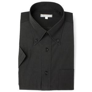 半袖ボタンダウン ブラック ワイシャツ ボタンダウン 半袖ワイシャツ メンズ 半袖 Yシャツ 豊富な...