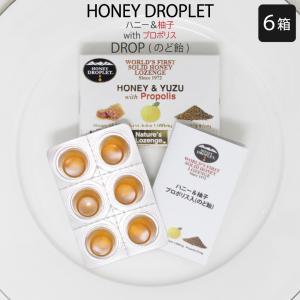 のど あめ ドロッフ蜂蜜 はちみつ プロポリス 柚子 フラボノイド 健康食品 国産 無添加 のど 改善 口臭 予防 改善 エネルギー チャージ 体調管理 6箱セット|bj-direct