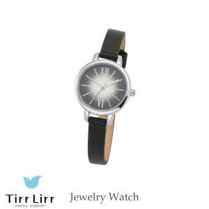 腕時計 時計 レディース 革ベルト 牛革 黒 シルバー TirrLirr ティルリル ギフト 韓国 ファッション クウォーツ bj-direct