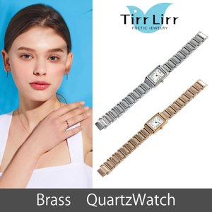 腕時計 時計 レディース メタルベルト 四角 ピンクゴールド シルバー TirrLirr ティルリル ギフト 韓国 ファッション クウォーツ bj-direct