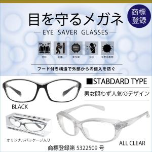 花粉対策グラス メガネ 眼鏡 ゴーグル 花粉症 飛沫 粉塵 紫外線 対策 通勤 通学 男女兼用 アイセーバーグラス|bj-direct