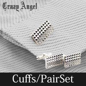 カフス アクセサリー メンズ ストーン キュービック ジルコニア Crazy Angel 就職祝い 誕生日 結婚式 ギフト プレゼント CAT-101 bj-direct