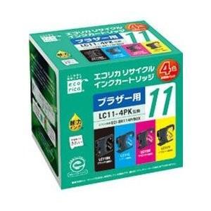 エコリカ ECI-BR114P/BOX (ブラザー LC11-4PK対応/リサイクルインクカートリッジ/4色BOXパック)|bjcosmetic