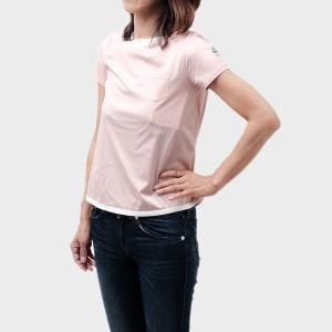【sizeXS】モンクレール MONCLER 半袖 コットン Tシャツ ライトピンク系基調 [レディース] 8066900 8390X 514 送料無料|bjkyoto