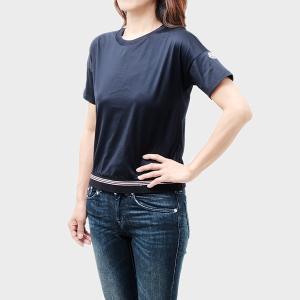 【sizeXS】モンクレール MONCLER コットン 半袖 クルーネック Tシャツ ブルー [レディース] 8067000 8390X 778 送料無料|bjkyoto
