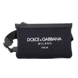 ドルチェ&ガッバーナ ドルガバ DOLCE&GABBANA ネオプレン ボディバッグ ウエストポーチ ブラック [メンズ] BM1730 AA350 HNII7|bjkyoto