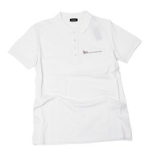 ディーゼル DIESEL T-KAL-3 POLO コットン 半袖 ポロシャツ ホワイト [メンズ] 00S6CS 0PAXD 100|bjkyoto