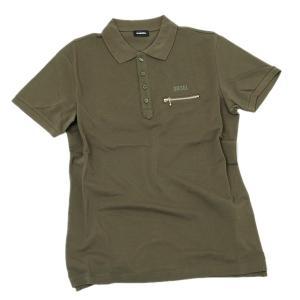 ディーゼル DIESEL T-KAL-3 POLO コットン 半袖 ポロシャツ カーキ系 [メンズ] 00S6CS 0PAXD 51F|bjkyoto