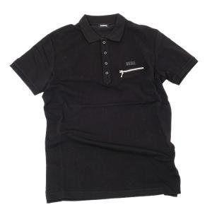 ディーゼル DIESEL T-KAL-3 POLO コットン 半袖 ポロシャツ ブラック [メンズ] 00S6CS 0PAXD 900|bjkyoto