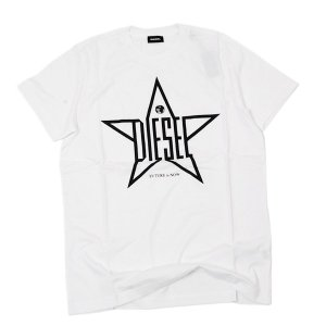 ディーゼル DIESEL T-DIEGO YH コットン 半袖 Tシャツ ホワイト [メンズ] 00SNRE 0091A 100|bjkyoto