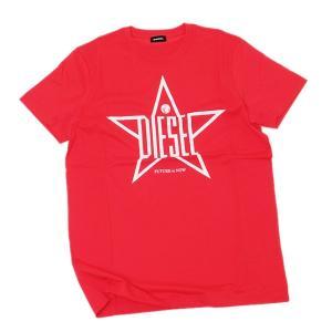 ディーゼル DIESEL T-DIEGO YH コットン 半袖 Tシャツ レッド [メンズ] 00SNRE 0091A 42A|bjkyoto