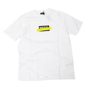 ディーゼル DIESEL T-JUST-DIE MAGLIETTA コットン 半袖 Tシャツ ホワイト [メンズ] 00SU2N 0PATI 100|bjkyoto