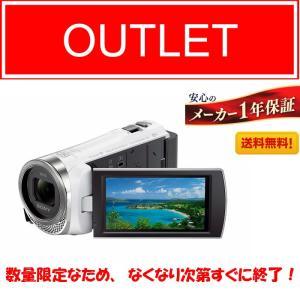 【展示品・送料無料】HDR-CX485 (W) (ホワイト)...