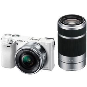 ソニー SONY ミラーレス一眼カメラ α6000 アルファ6000  ILCE-6000Y W ダブルズームレンズキット  ホワイト 【新品・他店印付き品】|bjy-store