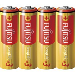 富士通 アルカリ乾電池 単3形(40本) LongLife  1.5V 4個  LR6FL(4S )【×10セット】 日本製 bjy-store