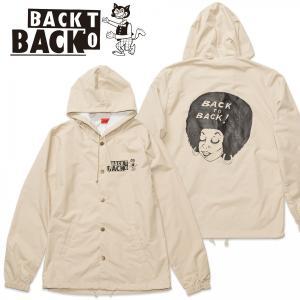 Back to Back originals ナイロンパーカ Afro BG バック・トゥ・バック オリジナル アフロ ベージュ|bk2bk