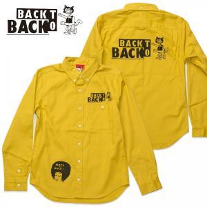 Back to Back バックトゥバック・オリジナル ボタンダウンシャツ マスタード 長袖 #16SHT01MS|bk2bk