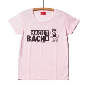 Back to Back バック・トゥ・バック オリジナル コットンタッチ・レディースTシャツ Wolf ウルフ ピンク 吸水速乾|bk2bk
