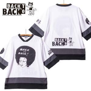 Back to Back バック・トゥ・バック オリジナル・ホッケーTシャツ アフロ&ウルフ ホワイト|bk2bk