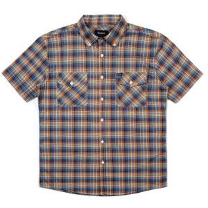 ブリクストン メンフィス ショートスリーブシャツ ウーブン  Brixton MEMPHIS S/S WOVEN  #01063 チェックシャツ [正規品]|bk2bk