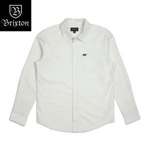 ブリクストン チャーター・オックスフォード・ロングスリーブシャツ ウーブン オフホワイト Brixton CHARTER OXFORD L/S WOVEN White 長袖シャツ [正規品]|bk2bk