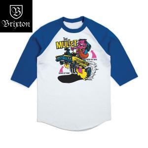ブリクストン マレット 七分袖 Tシャツ  Brixton MULLET 3/4 SLEEVE TEE #02469 ラグランTシャツ ベースボールTシャツ [正規品]|bk2bk