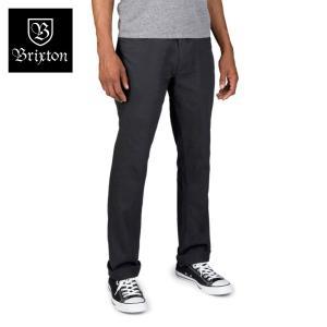 ブリクストン リザーブ・5ポケットパンツ ブラック Brixton RESERVE 5-POCKET PANT #04038 ファイブポケット スタンダードフィット [正規品]|bk2bk