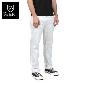 ブリクストン リザーブ・5ポケットパンツ ホワイト Brixton RESERVE 5-POCKET PANT #04038 ファイブポケット スタンダードフィット [正規品]|bk2bk