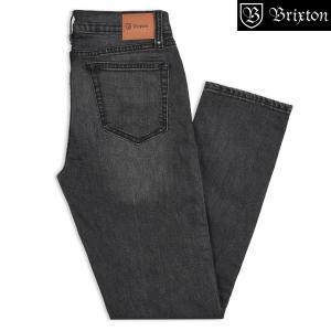 ブリクストン リザーブ・5ポケット デニムパンツ ウォーンブラック Brixton RESERVE 5-POCKET DENIM PANT #04098 ファイブポケット ウォッシュドデニム [正規品]|bk2bk