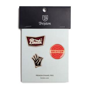 ブリクストン オーケー ピンバッジパック  Brixton OK PIN PACK #05173 バッジセット ロゴ [正規品]|bk2bk