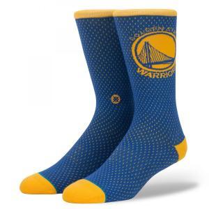 STANCE Socks WARRIORS Jersey スタンスソックス ウォリアーズ・ジャージー Basketball NBAコレクション バスケットボール ゴールデンステート [正規品]|bk2bk