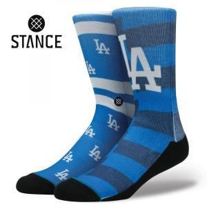 STANCE Socks DODGER SPLATTER スタンスソックス ドジャースプラッター MLB Logo Collection メジャーリーグ ロゴ 大リーグ Dodgers 野球 [正規品]|bk2bk