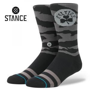 STANCE Socks NIGHTFALL CELTICS スタンスソックス ナイトフォール・セルティックス NBA Casual Series カジュアルシリーズ 迷彩 靴下 [正規品] bk2bk