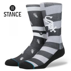 STANCE Socks WHITE SOX SPLATTER スタンスソックス ホワイトソックス スプラッター MLB Logo Collection メジャーリーグ ロゴ 大リーグ シカゴ 野球 [正規品]|bk2bk