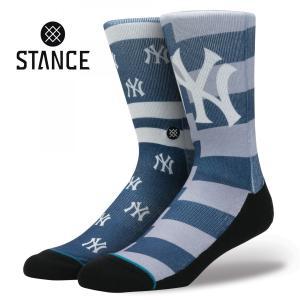 STANCE Socks YANKEE SPLATTER スタンスソックス ヤンキースプラッター MLB Logo Collection メジャーリーグ ロゴ 大リーグ NY ニューヨーク 野球 [正規品]|bk2bk