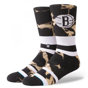 STANCE Socks Nets Acid Wash スタンスソックス ネッツ・アシッドウォッシュ Basketball NBAコレクション バスケットボール Brooklyn ブルックリン [正規品] bk2bk