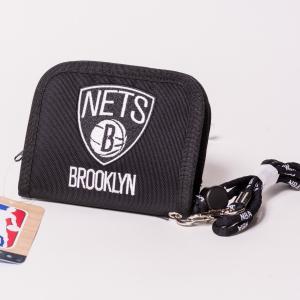 NBA WALLET BROOKLYN NETS エヌビーエー 刺繍ロゴ入り財布 ブルックリン・ネッツ バスケットボール|bk2bk
